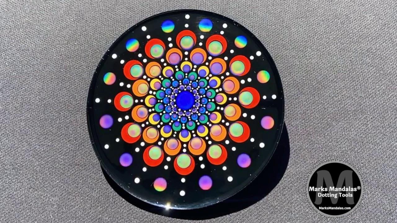 Time Lapse Liquid Crystal Dot Mandala Video by Marks Mandalas