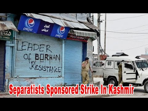 Separatists called strike affects normal life in Kashmir Valley : NewspointTv
