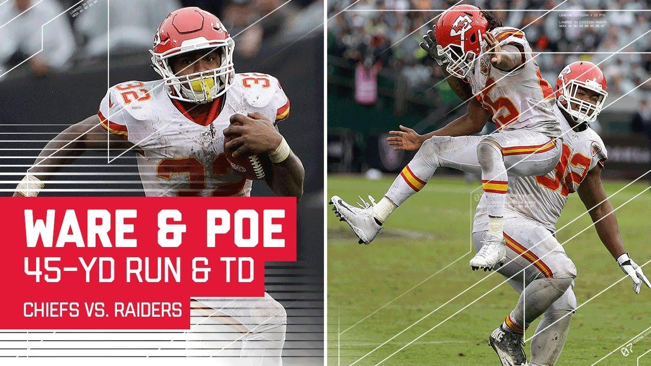 Spencer Ware's 45-Yard Run Sets Up Dontari Poe's TD Grab! | Chiefs vs. Raiders | NFL