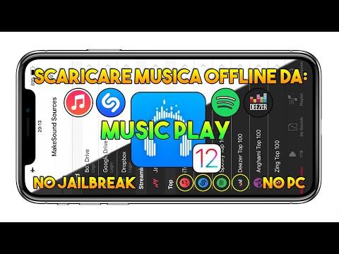 Scaricare MUSICA OFFLINE da SPOTIFY, SHAZAM, ITUNES, DEEZER (Music Play) su IOS 12 - App IOS Mp3