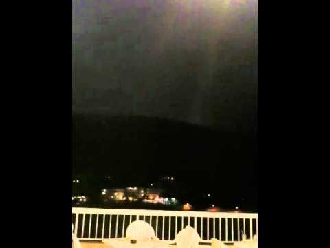 Lightning storm in ibiza