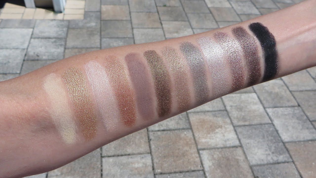 Flash Beauty Urban Decay Naked 2 Palette Swatches -6538