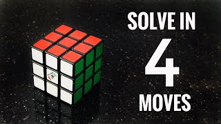 How to Solve a Rubik's Cขbe in 4 Moves