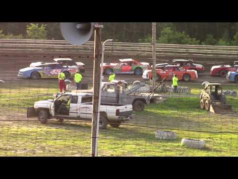 Hummingbird Speedway (7-13-19): Sunny 106.5 FM Pure Stock Heat Race