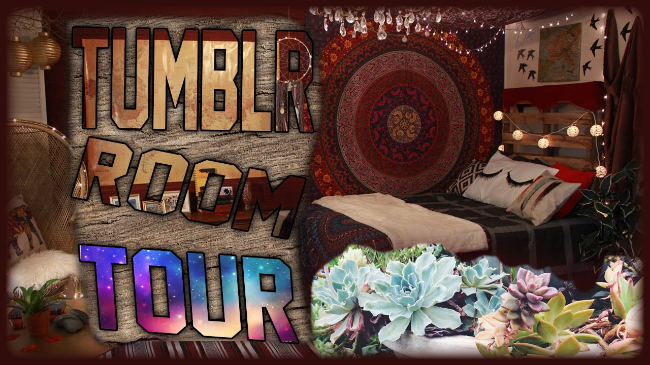 Tumblr Room Tour  Fall 2015 Room Tour  Tumblr Inspired Bedroom For Teens  YouTube