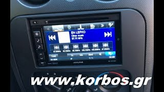 Jeep Cherokee with 2 din Alpine Multimedia www.korbos.gr