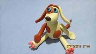 Как слепить собаку из пластилина.  how to sculpt a dog out of clay.
