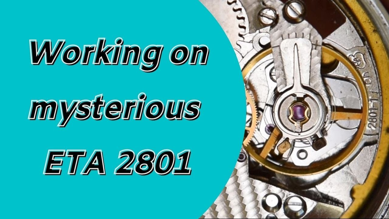 Watch repair and watch servicing | working on mysterious ETA 28 and general face
