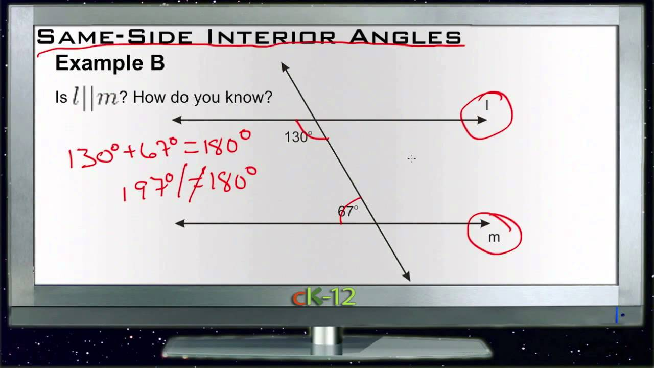 Same Side Interior Angles Examples Basic Geometry Concepts