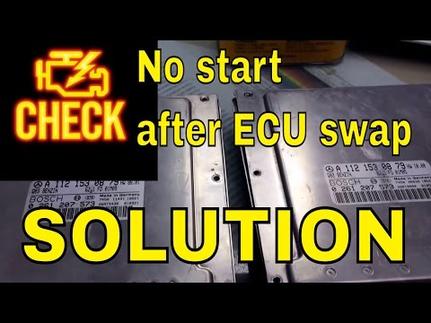 how to Mercedes immobilizer programing after ecu swap