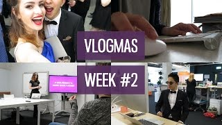Vlogmas week #2: Giving a talk & black tie Christmas party | CharliMarieTV