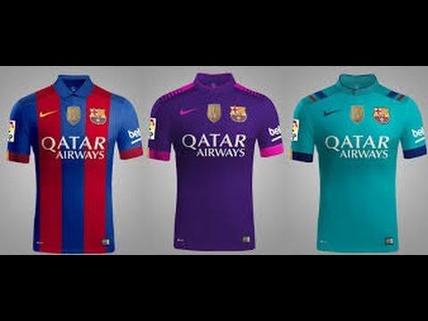 barcelona fc 2016 17 kits url in dream league soccer 16 youtube