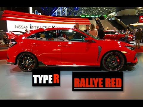 2018 Honda Civic Type R Rallye Red - Inside Lane - YouTube