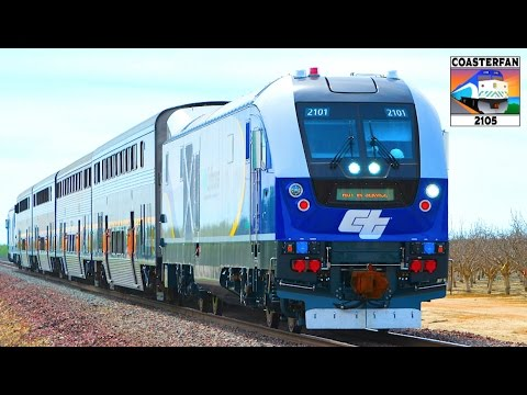 NEW Amtrak California Charger Locomotive Test Train