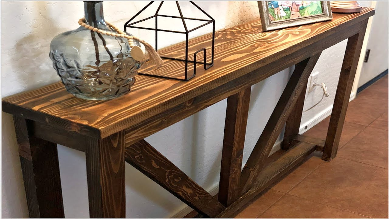 Simple Rustic Entry Table Diy