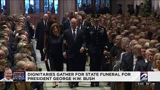 Dignitaries gather for state funeral for former President George H.W. Bush