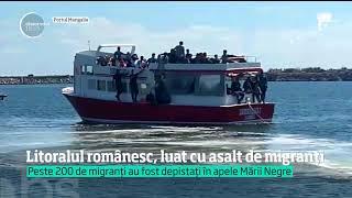 Vezi jurnalul de știri pe Antena Play: https://goo.gl/1GtmpL Imagini dramatice au fost surprinse pe litoralul românesc. Plaja din staţiunea 2 mai a fost luată cu asalt de migranţi.Sute de bărbaţi, fem