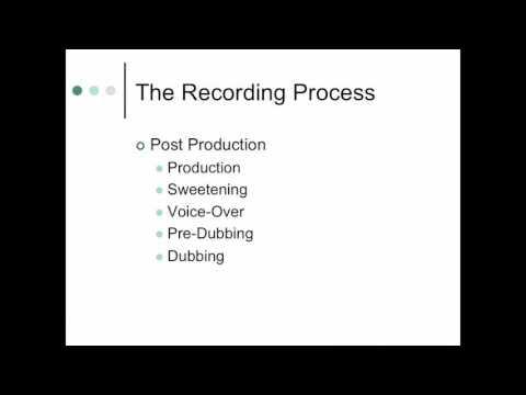 The Recording Studio   Part 1