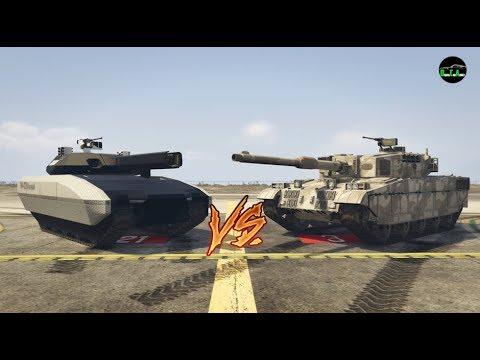 GTA 5 - Durability Test (TM-02 Khanjali Vs. Rhino Tank)