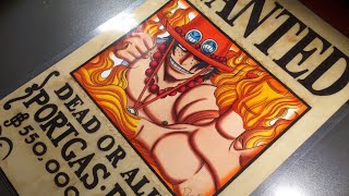 Drawing Wanted of Portgas D. Ace - One Piece.