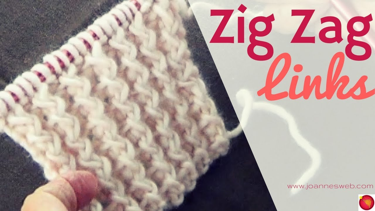 Zig Zag Links Knitting Pattern | Rib Stitch Knit | Zig Zag Knitted ...