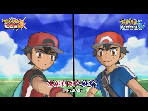 Pokemon Sun and Moon: Champion Ash Vs Ash XYZ (Pokemon Multiverse Alternate Ash)