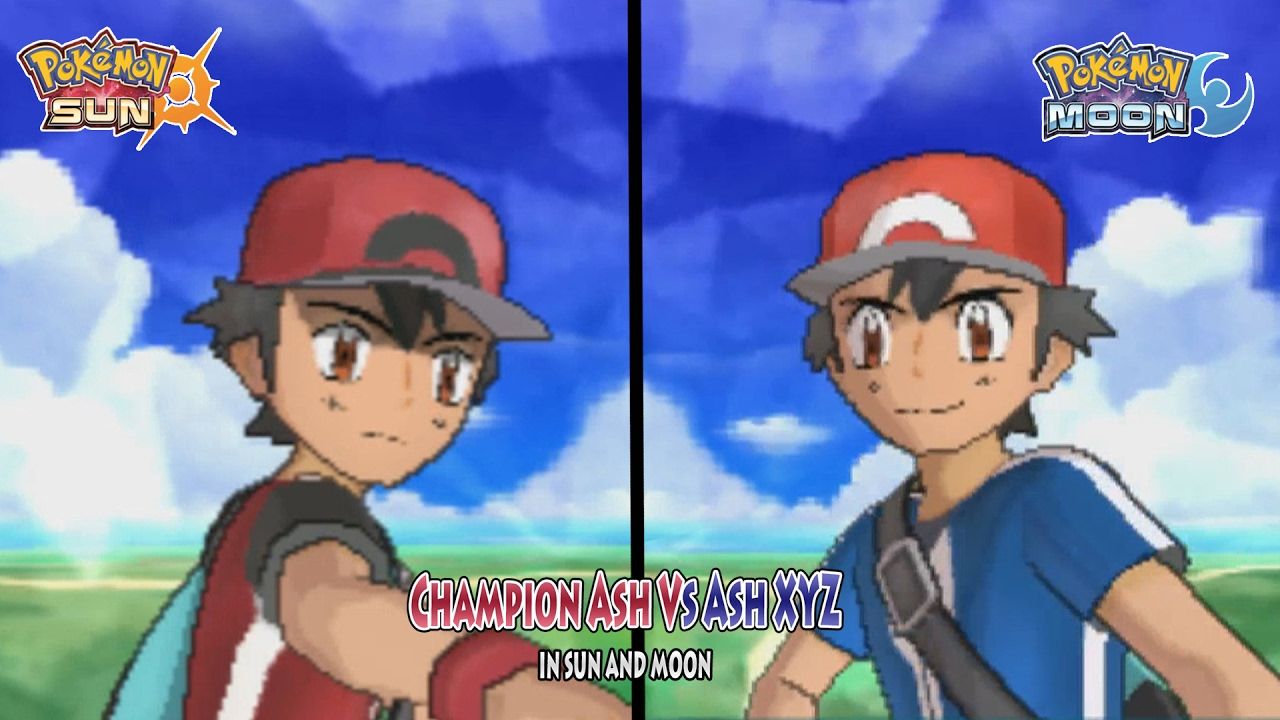 8f72d08b87c6 Pokemon Sun and Moon  Champion Ash Vs Ash XYZ (Pokemon Multiverse Alternate  Ash) - YouTube