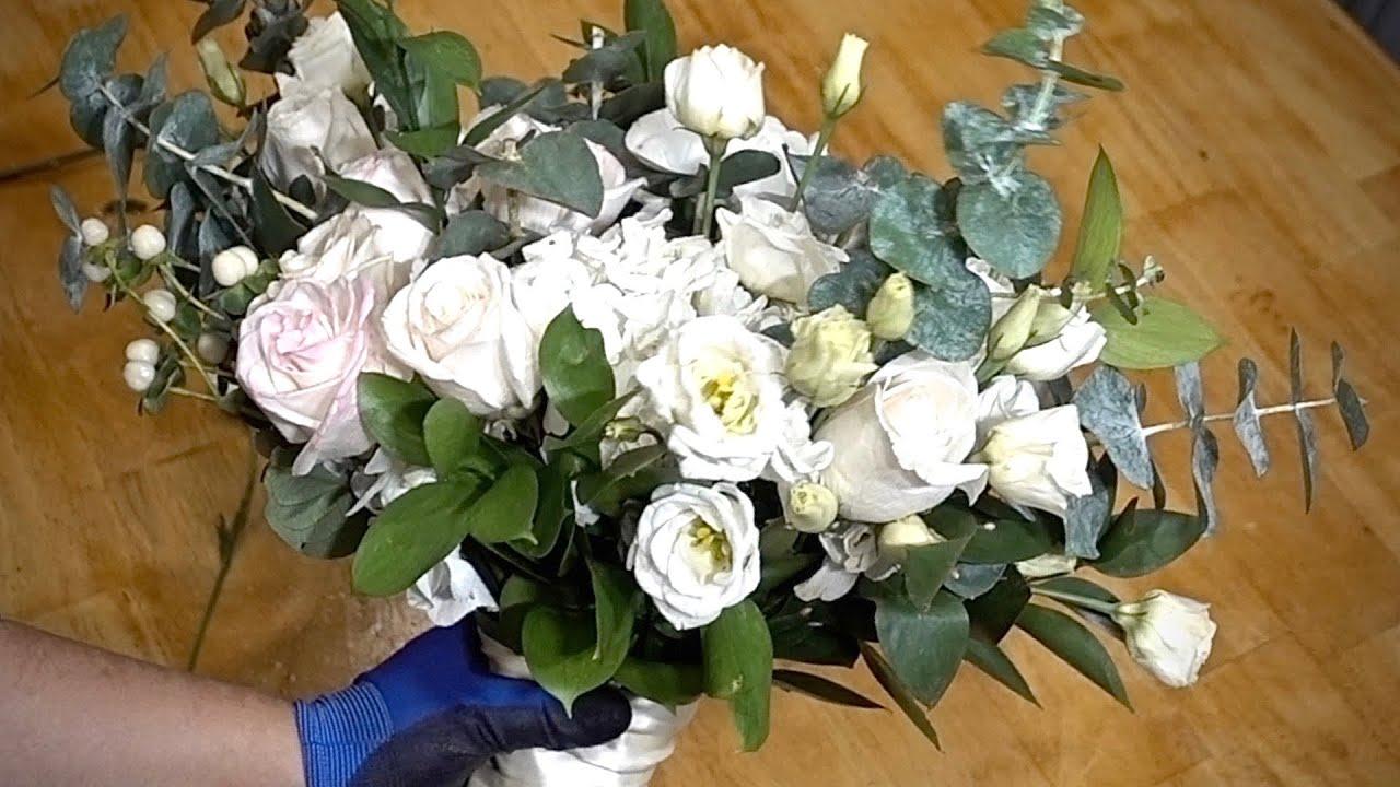 Organic Greenery Wedding Bridal Bouquet Diy Tutorial