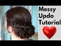 How to: Messy Braided Updo Easy Hair Tutorial - prom wedding hair