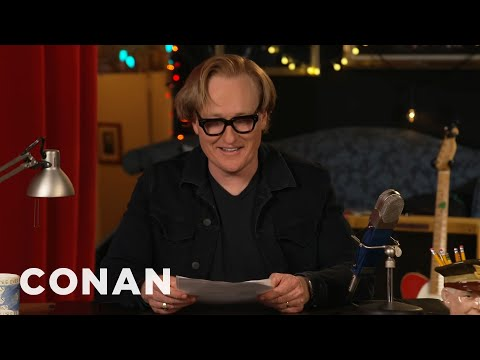 Conan Reads Fan Comments About His Hair - CONAN on TBS