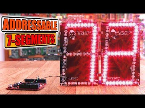 Addressable Big 7 Segments Display PCB
