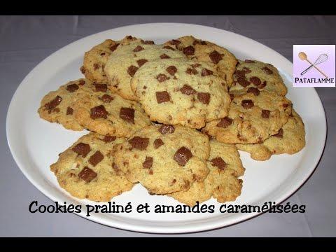 les-cookies-praliné-et-amandes-caramélisées---recette-facile