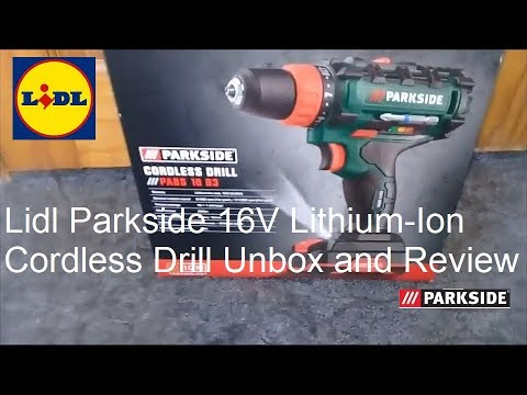 Lidl Parkside 16v Lithium-Ion Cordless Drill PABS 16 B3 Unbox and Review