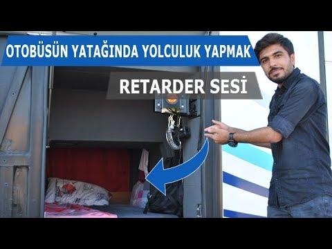 Otobüsün Yatağında Yolculuk Yapmak Motorun Içinden Retarder Sesi