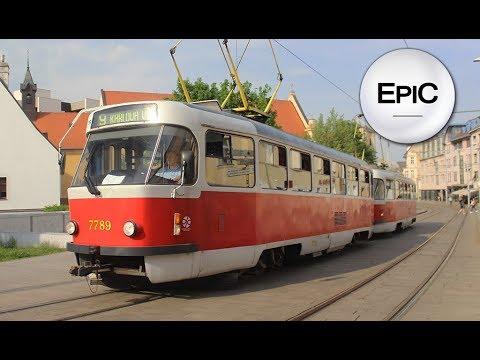 Tramways of Bratislava - Slovakia (HD)