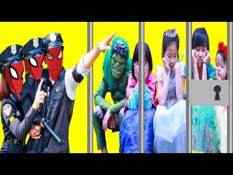 Police Spiderman Family And Baby Police Vs Joker , Elsa Baby, Frozen Elsa, ,Maleficent ,Superman
