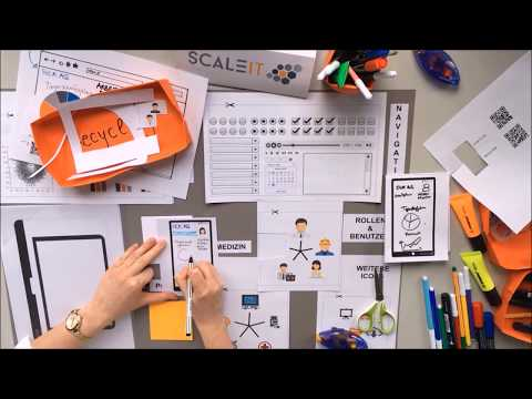 Build your own Industry 4.0 ready App with the ScaleIT Paper Prototyping Kit