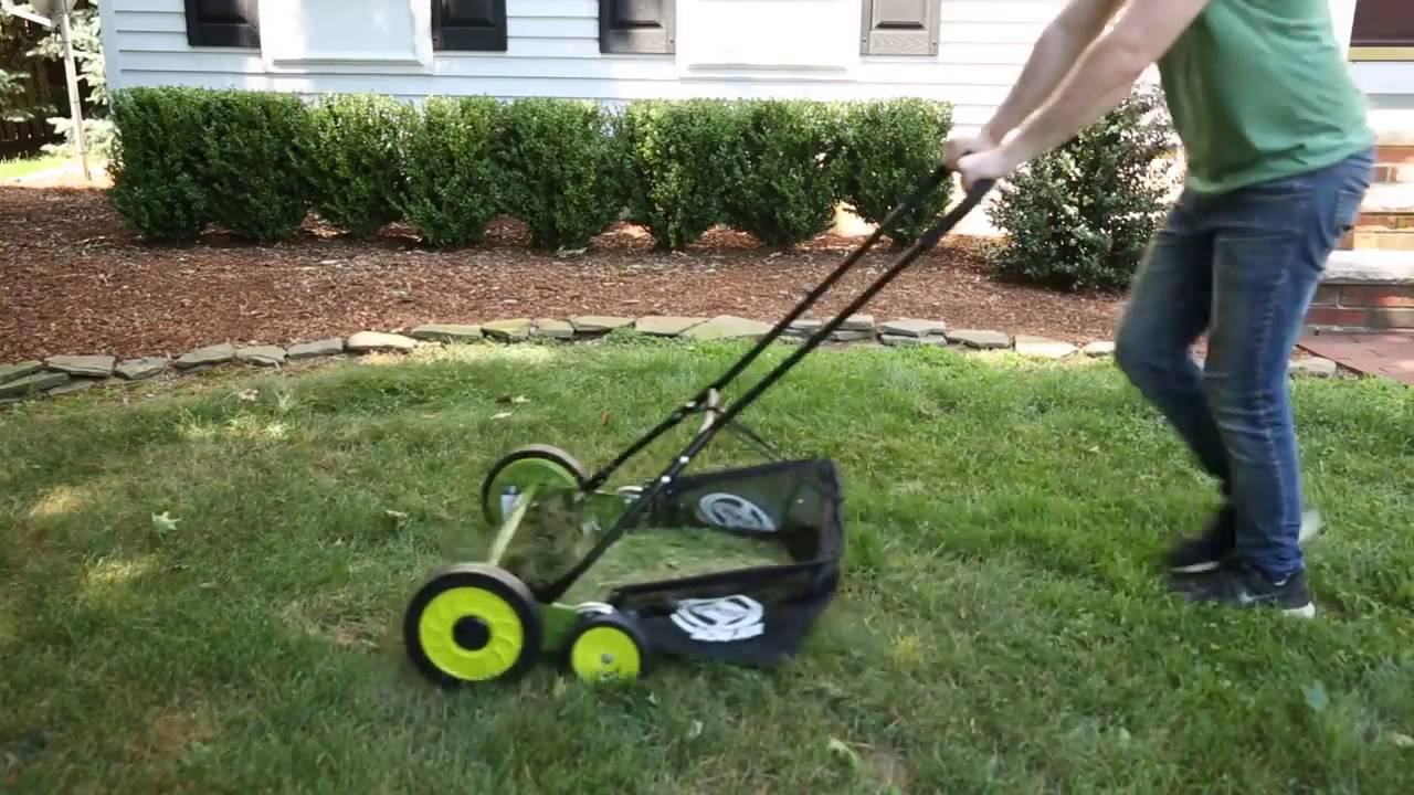Manual Reel Mower W Gr Catcher Mj502m