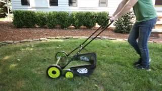 Sun Joe 20 in. Manual Reel Mower w/ Grass Catcher - MJ502M