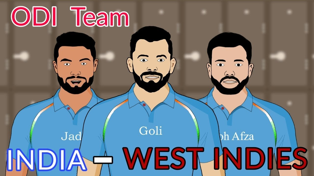 India vs West indies Odi Team