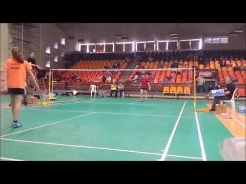 Israel Badminton National 2015 - WS Final - Dana Kugel vs Dana Danilenko