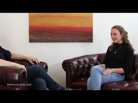 Interview Anika mit Vocal Coach Hajo B.Belton