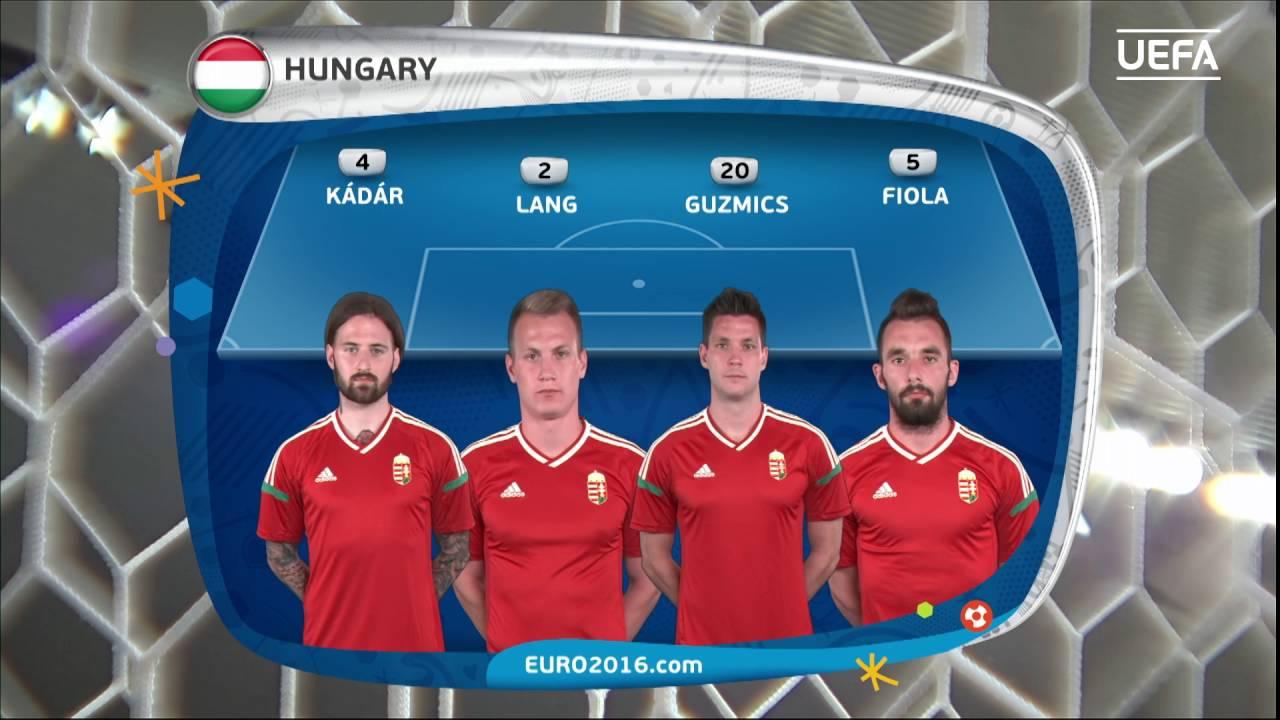 Resultado de imagem para Hungary lineup v Iceland: UEFA EURO 2016