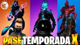 PASE DE BATALLA TEMPORADA X FORTNITE I Como desbloquear todas las skins de la Temporada 10 Fortnite