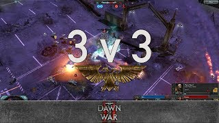 Dawn of War 2 - 3v3 | Kea + Phiracs + panzerbatallion [vs] Rostam + PKoji + Marky Mark