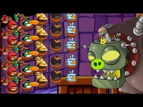 Plants Vs Zombies Jefe Final Vs Angry Birds