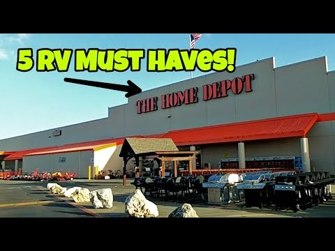 5 RV Must Haves From Home Depot!