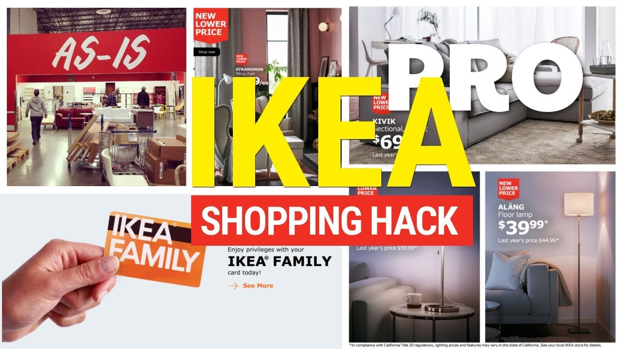 12 clever ikea shopping ideas youtube. Black Bedroom Furniture Sets. Home Design Ideas