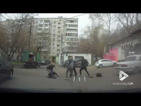 Drunken brawl in middle of car park