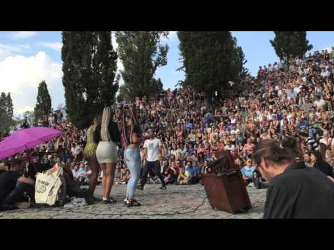Karaoke at Mauerpark, Berlin 2015